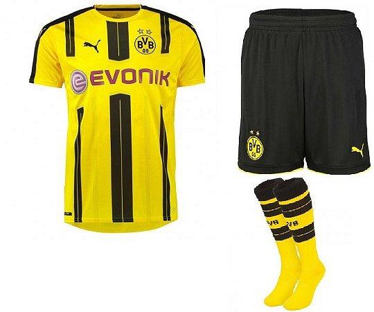 Kit adulto oficial Puma Borussia Dortmund 2016 2017 I jogador