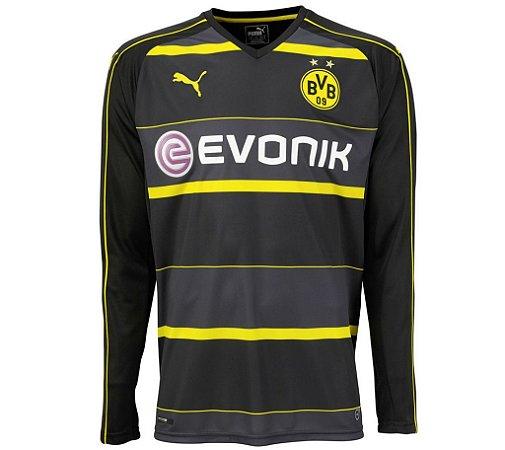Camisa oficial Puma Borussia Dortmund 2016 2017 II jogador manga comprida
