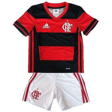 Kit infantil oficial adidas Flamengo 2016 I jogador