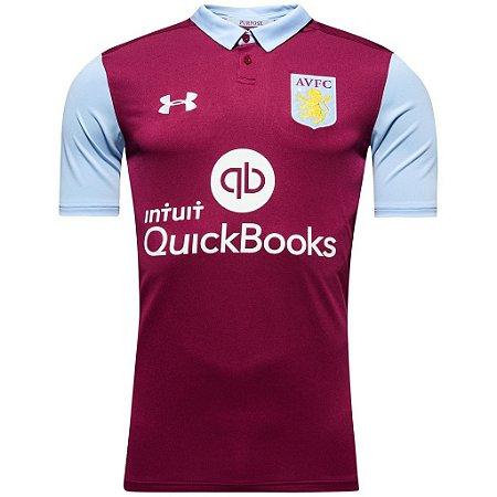 Camisa oficial Under Amour Aston Villa 2016 2017 I jogador