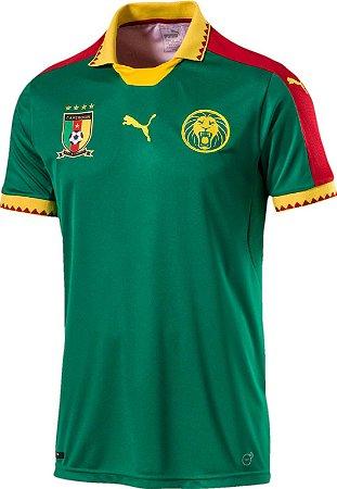 Camisa oficial Puma seleção de Camarões 2017 I jogador