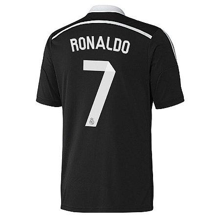 camisa oficial adidas Real Madrid 2014 2015 III jogador 7 Ronaldo Pronta entrega