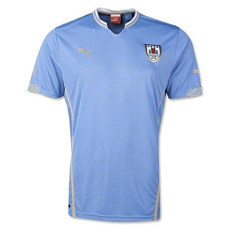 Camisa oficial Puma seleção do Uruguai 2014 I jogador pronta entrega