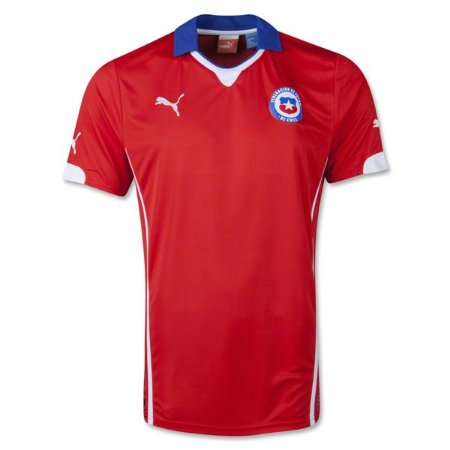 Camisa oficial Puma Seleção do Chile 2014 I jogador Pronta entrega