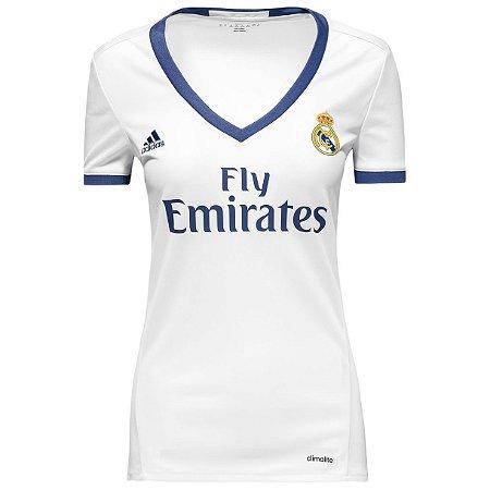 Camisa Feminina oficial Adidas Real Madrid 2016 2017 I