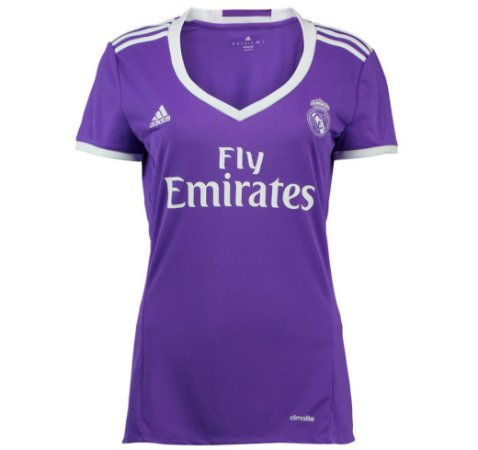 Camisa Feminina oficial Adidas Real Madrid 2016 2017 II