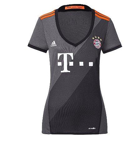 Camisa Feminina oficial Adidas Bayern de Munique 2016 2017 II
