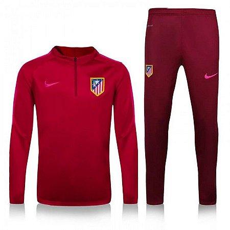 Kit treinamento oficial Nike Atletico de Madrid 2016 2017 vermelho