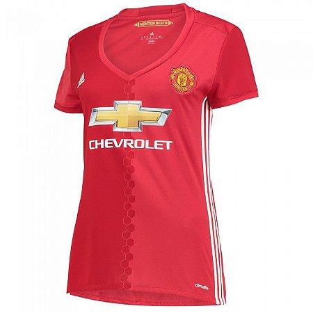 Camisa Feminina oficial Adidas Manchester United 2016 2017 I