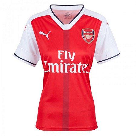 Camisa feminina oficial Puma Arsenal 2016 2017 I