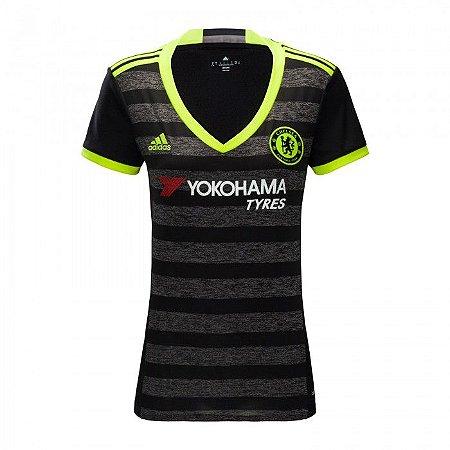 Camisa Feminina oficial Adidas Chelsea 2016 2017 II