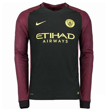 Camisa oficial Nike Manchester City 2016 2017 II jogador Manga comprida