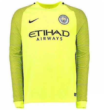 Camisa oficial Nike Manchester City 2016 2017 Goleiro