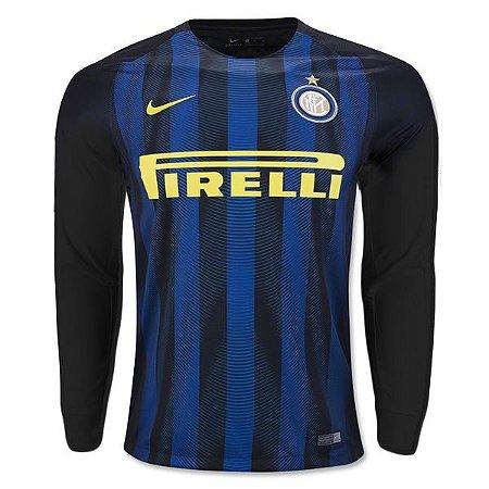 Camisa oficial Nike Inter de Milão 2016 2017 I jogador manga comprida