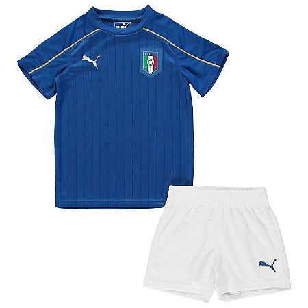 Kit oficial infantil Puma seleção da Italia Euro 2016 I jogador