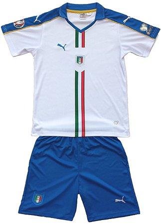 Kit oficial infantil Puma seleção da Italia Euro 2016 II jogador