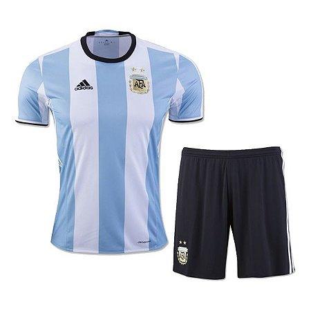Kit oficial adulto Adidas seleção da Argentina 2016 I jogador