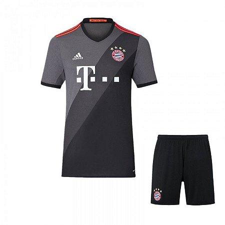 Kit infantil oficial Adidas Bayern de Munique 2016 2017 II jogador