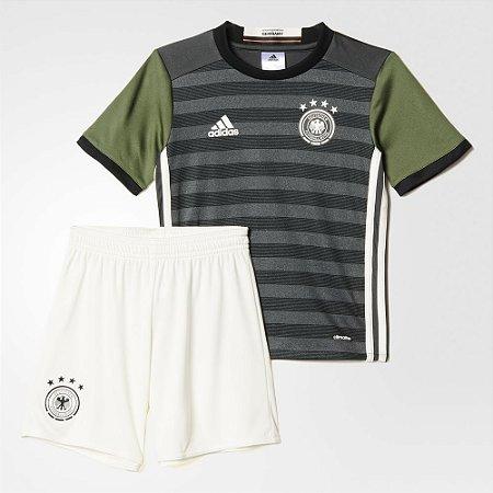 Kit infantil oficial adidas seleção da Alemanha Euro 2016 II jogador