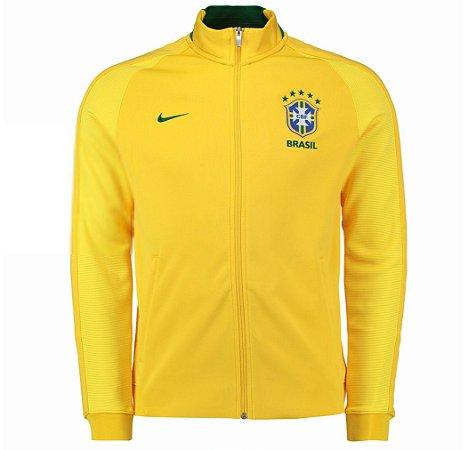 Jaqueta oficial Nike Seleção do Brasil 2016 I Amarela