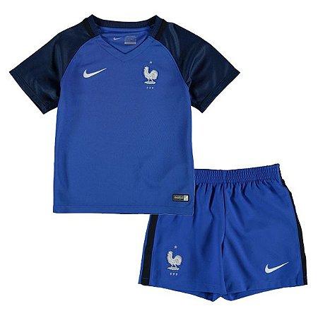 Kit oficial infantil Nike seleção da França Euro 2016 I jogador