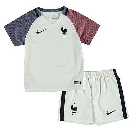 Kit oficial infantil Nike seleção da França Euro 2016 II jogador