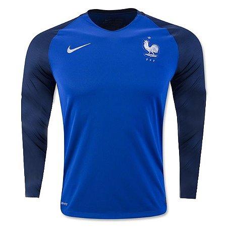 Camisa oficial Nike seleção da França Euro 2016 I jogador manga comprida