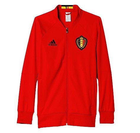 Jaqueta oficial Adidas seleção da Belgica Euro 2016 Vermelha