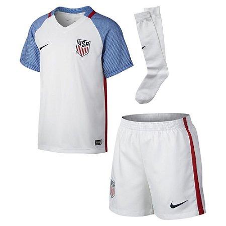 Kit infantil oficial Nike seleção dos Estados Unidos I jogador