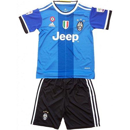 Kit infantil oficial Adidas Juventus 2016 2017 II jogador