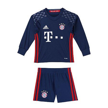Kit infantil oficial adidas Bayern de Munique 2016 2017 I goleiro