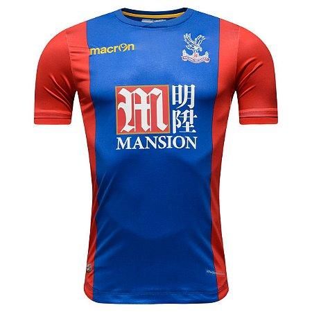 Camisa oficial Macron Crystal Palace 2016 2017 I jogador