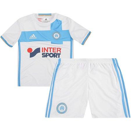 Kit infantil oficial adidas Olympique de Marseille 2016 2017 I jogador