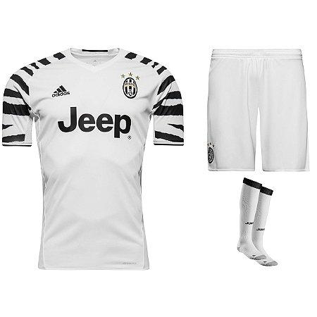 Kit adulto oficial adidas Juventus 2016 2017 III jogador