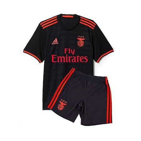Kit oficial infantil Adidas Benfica  2016 2017 II jogador