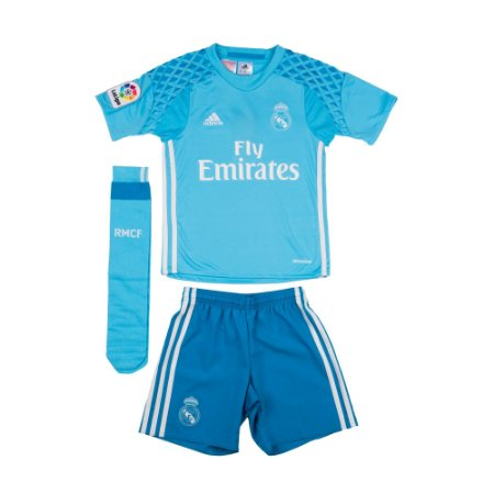 Kit infantil oficial Adidas Real Madrid 2016 2017 I Goleiro