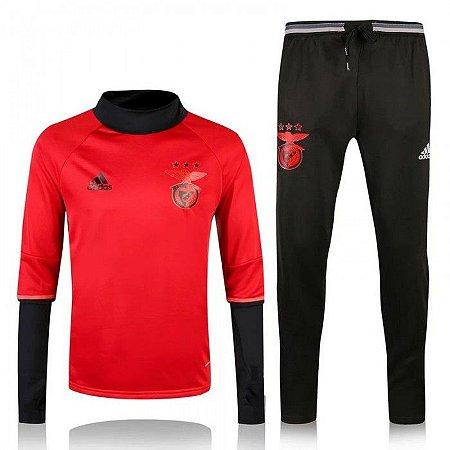 Kit treinamento oficial Adidas Benfica 2016 2017 vermelho