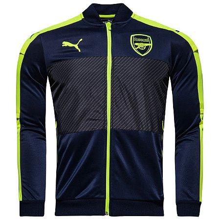Jaqueta oficial Puma Arsenal 2016 2017 azul e verde