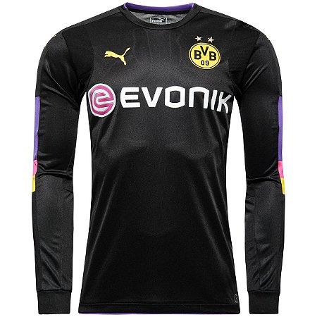 Camisa oficial Puma Borussia Dortmund 2016 2017 Goleiro preta
