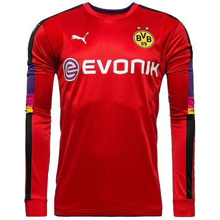 Camisa oficial Puma Borussia Dortmund 2016 2017 Goleiro vermelha