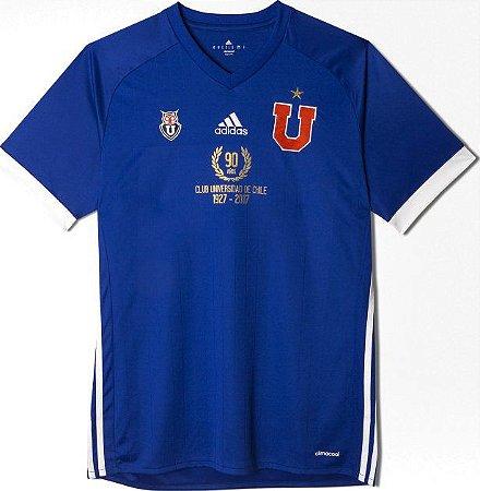 Camisa oficial Adidas Universidad de Chile 2017 edição 90 anos