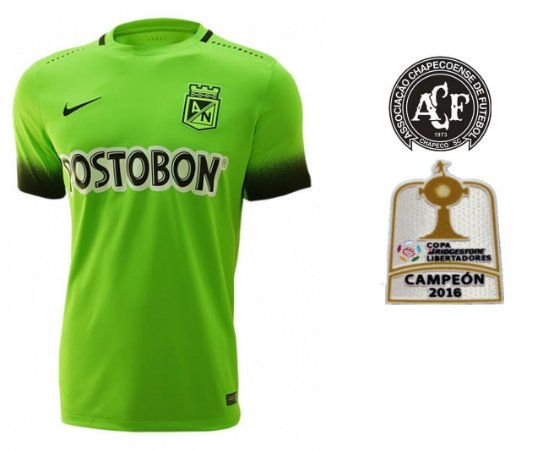 Camisa oficial Nike Atlético Nacional de Medellin 2016 III jogador ESPECIAL