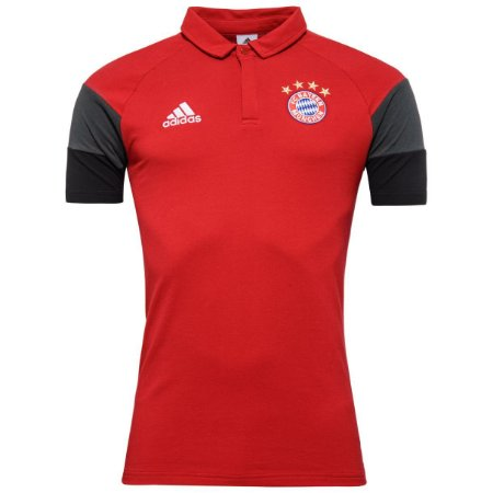 Camisa Polo oficial Adidas Bayern de Munique 2016 2017 vermelha