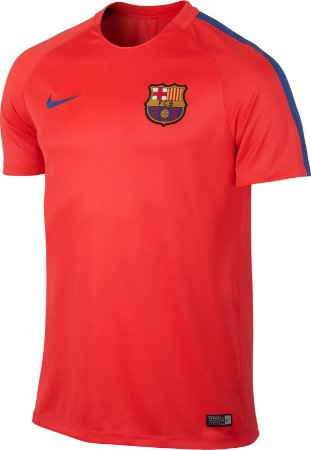 Camisa oficial Treino Nike Barcelona 2016 2017 laranja