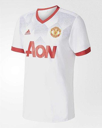 Camisa oficial Treino Adidas Manchester United 2016 2017 Branca