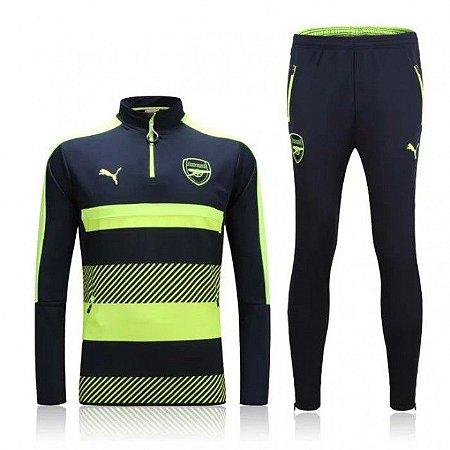 kit oficial treinamento Puma Arsenal 2016 2017 Verde e preto