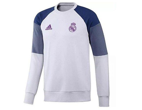Sueter oficial Adidas Real Madrid 2016 2017 Branco