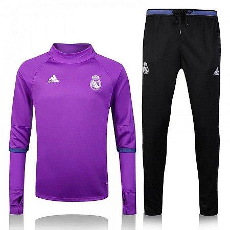 Kit treinamento oficial Adidas Real Madrid 2016 2017 Rosa e preto