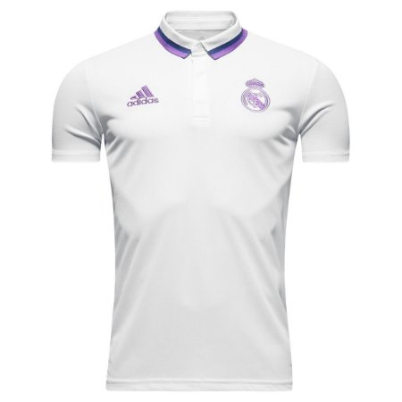 Camisa oficial Polo Adidas Real Madrid 2016 2017 branco