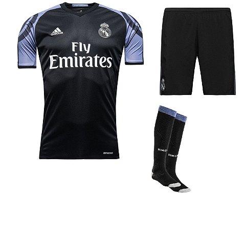 Kit adulto oficial adidas Real Madrid 2016 2017 III jogador